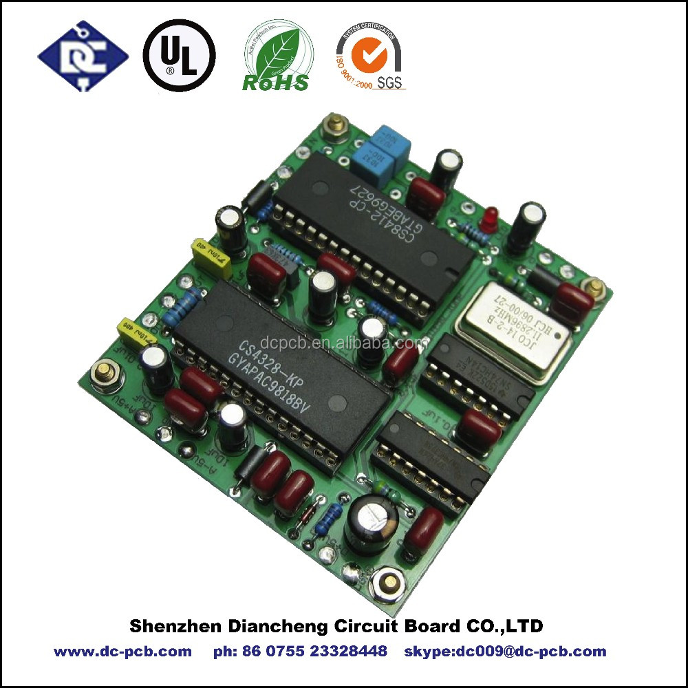 Printed circuit board layout design and SMT and THT assembly of printed circuit board