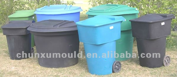 garbage can with PE rotomould,plastic garbage box/waste bins
