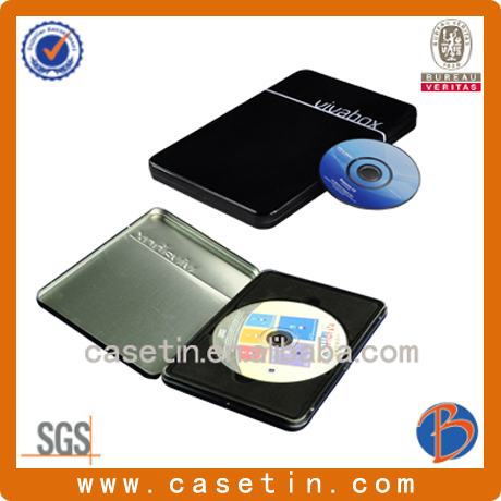 Fashion mini DVD tin box/metal CD box/CD storage case