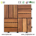 DIY wood decking Acacia interlooking flooring tile garden floor