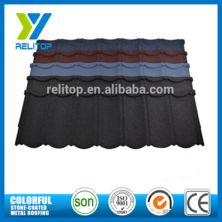 Low price stone coated metal roof tile types of roofing sheet