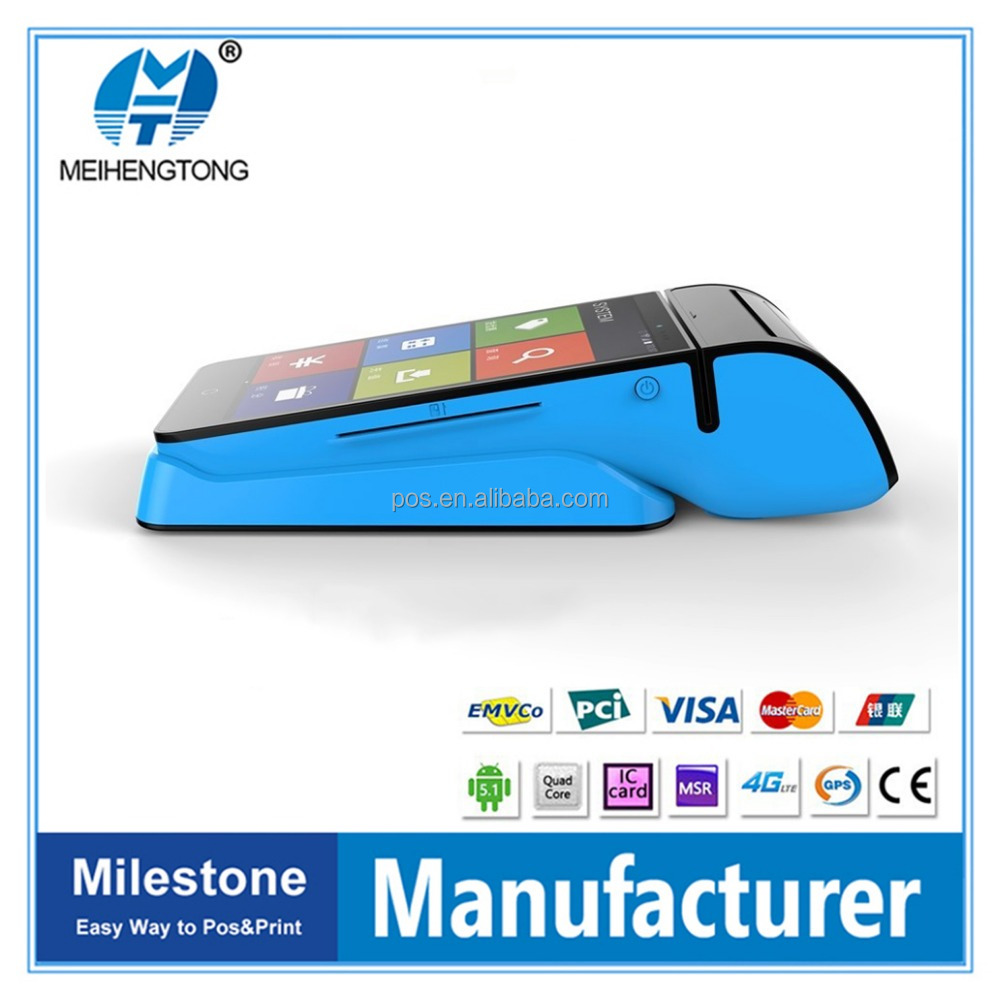 MHT-V3 Bluetooth Android Mobile Sale Point Pos Terminal with RFID Card Reader