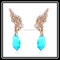 Lovey Charm Gold Wing Ladies Rhinestone Earring Produced In Shenzhen MGJ0203