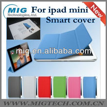 Real Smart cover for ipad mini, leather case for ipad