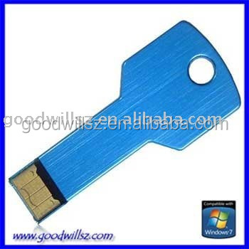 Metal colorful key usb flash drive ,2.0 16GB key shape flash drive for gift
