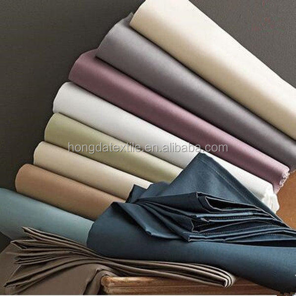 210TC polyester and cotton blended white star hotel bed sheet fabric in roll