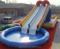 large inflatable water slide, inflatable water slide blower, inflatable water slide pool