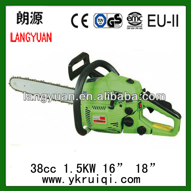 3800 Garden Cutting Tool 38CC Chain Saw/ Gasoline ChainSaw Wood Saw With 16'' Guide Bar