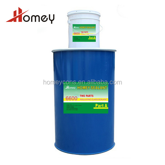 Homey 6600 two part room temperature neutral curing high flexibility silicone sealant for glass