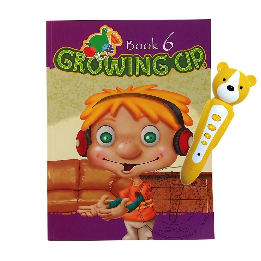 Famous English Book with Point of Reading Pen Growing Up is Talking English's Connection EB01