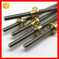 China Factory Low Prices Trapezoidal Lead Screw With Trapezoidal Thread Screw Nut