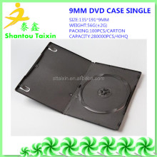 9mm plastic black double dvd case