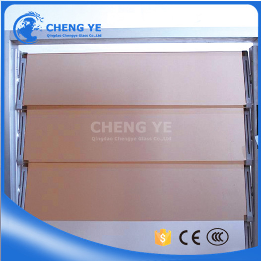 Safety Louver 5mm Dark Bronze Jalousie Blind Glass Panel For Silk-Screen