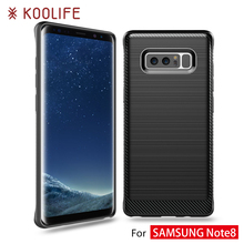 Hot selling New cover phone case For Samsung galaxy note 8 carbon fiber case