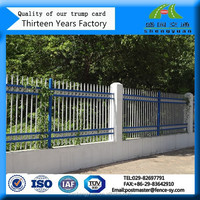 Pvc coated steel galvanized decorative outdoor picket fence