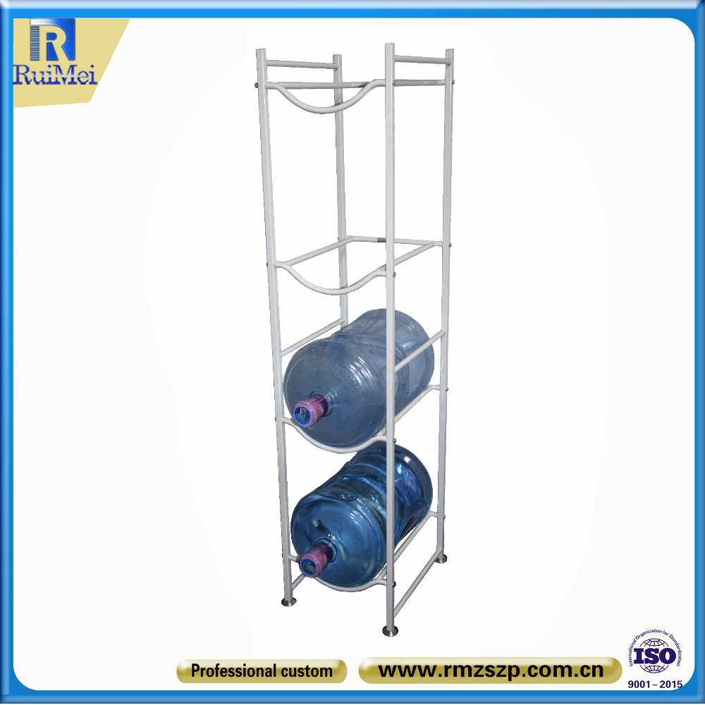 Alibaba store custom metal display 5gallon water bottle rack