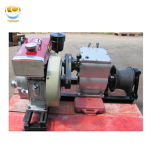 1t 3t 5t 8t gasoline/petrol or diesel high speed cable power pulling equipment winch for overhead line transmission