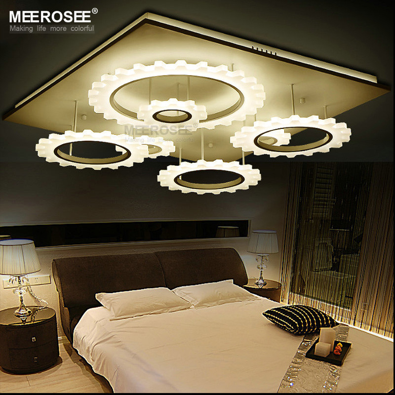 Modern Square Ceiling Light Acrylic Flush Mounted Lamp for Home MD81781