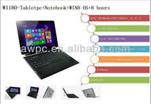 11.6 inch 1366*768 pixels rotatable touch screen Ivy Bridge i3- 3227U dual core Windows 8 Laptop+tablet, netbook windows, win 8