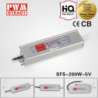 China Manufacture 5v 40a dc switching power supply electronic waterproof 200w led driver ip67 with CE approval