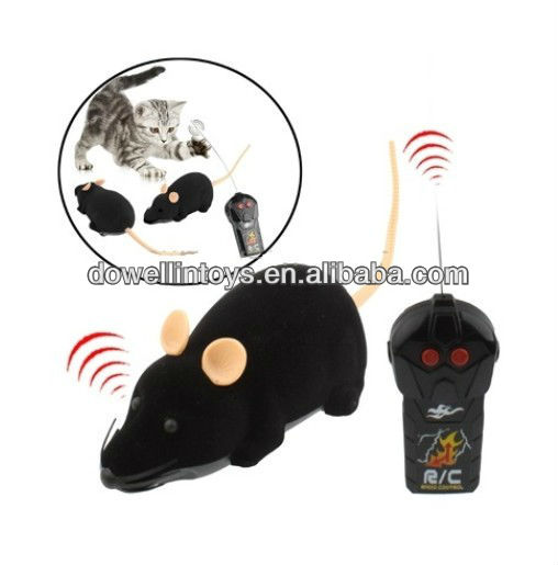 Scary R/C Simulation Plush Electronic Mouse with Remote Controller,RC Mouse Toy