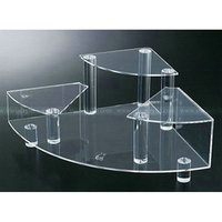 Acrylic Stepped Cosmetic Display Riser Stand, Clear Custom Purfume, nail polish Holders
