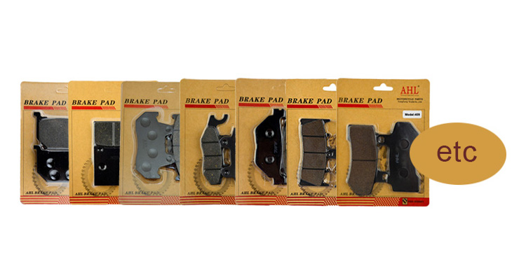 Motorcycle Semi-metallic No Noise Brake Pads FA69 for Honda CN250