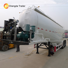 Tri-axle v type dry silo bulk cement transport tank semi trailer for sale