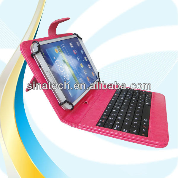 New model !!! 7 inch tablet pc case with keyboard and touchpad