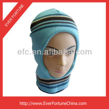 Kids Warm Winter Ski and Face Mask,promotional winter acrylic knitted beanie caps and hats