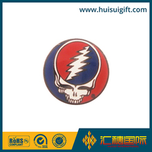 wholesale promotional fashionable Metal skull with red hat Grateful Dead pin