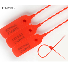 ST-3198 Numbered Customized Printing Pull Tight Security Plastic Seal