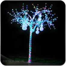 Customized lighted Christmas Indoor Artificial Fruit Trees