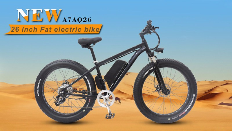 26*4.0 inch 500W beach snow fat tire electric bike