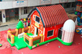 inflatable farm bouncer, farm inflatable bouncer combo with slide for kids