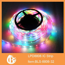 10M 2x 5M 5050RGB 8806 WS2811 IC Individually Addressable Black PCB LED Strip DC5V