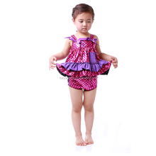 Newborn Baby Girls Swing Top Bloomer Set Girls Sequin Mermaid Clothing Set Wholesale Children Clothes