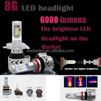 Factory best selling high power 8G 6000lm auto light