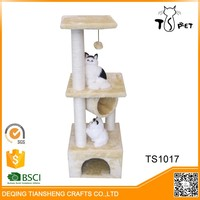 Large Luxury Indoor Cat Wooden Trees With Toys