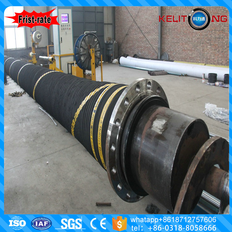 Large diameter rubber hose dredging hose for delivery and suction sand mud