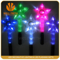 Hot selling waterproof star shaped led flashing light stick for party,concerts
