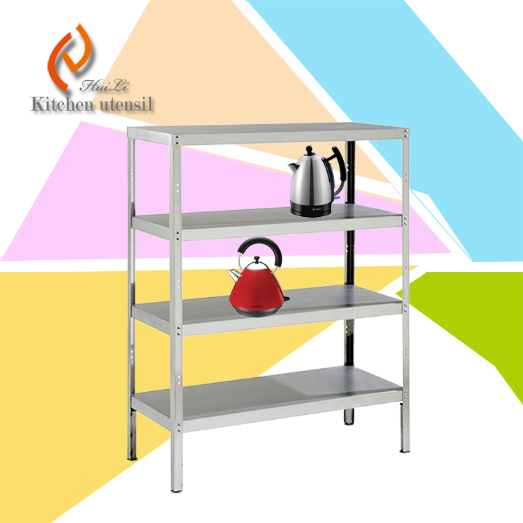 Free standing stable multi ties stainless steel kitchen storage rack shelf separated assembled - Free standing kitchen storage solutions ...