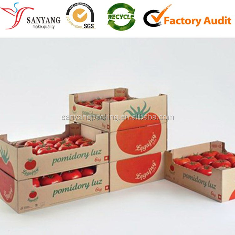 Accept Custom Order and Vegetable,Fruit Use foldable tomato storage packing boxes