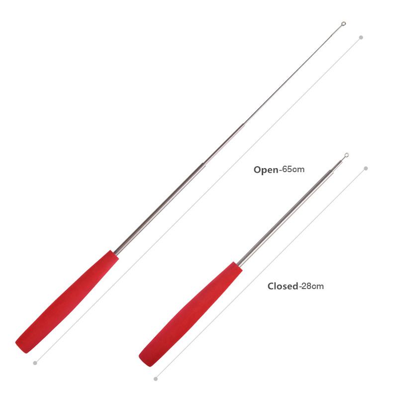 Mini Telescopic Fiberglass Shrimp Fishing Rod EVA Handle Metal Ring Tip Fishing Rod for Small Fish Fishing Tackle (3)