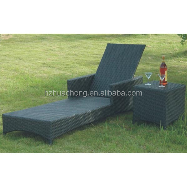 HC-J011-C poolside cheap rattan sun lounger for sale