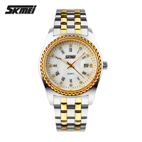 2016 skmei japan quartz movt watch with stainless steel watch for men