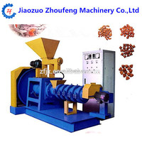 Floating fish feed animal feed pellet extruding making machine