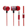 Colorful earphones stereo promotional headphone wired retractable headphone with mic