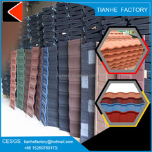 Colorful stone coated roof tile