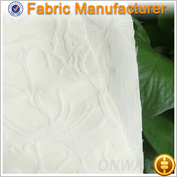 Onway Textile 100% polyester woven jacquard satin fabric for flower girl dress